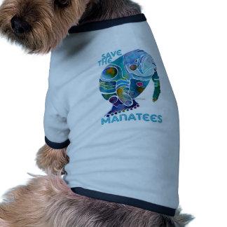 Sauvez le lamantin manteaux pour chien