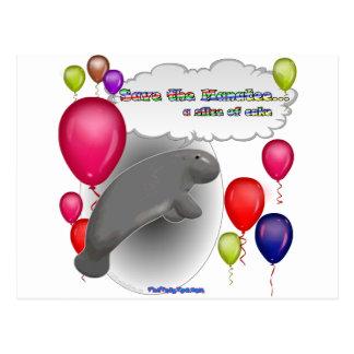 Sauvez le lamantin. une tranche de gâteau cartes postales