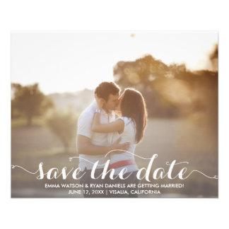 Sauvez le modèle de carte postale de date prospectus 11,4 cm x 14,2 cm