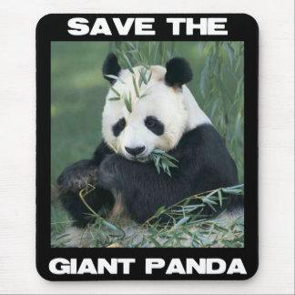 Sauvez le panda géant tapis de souris