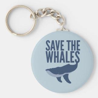Sauvez le porte - clé de baleines porte-clés
