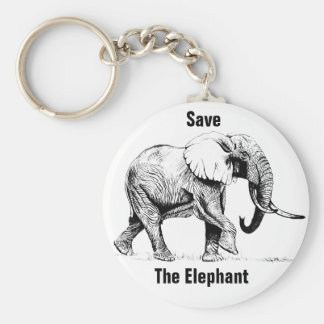 Sauvez le porte-clés de faune d'éléphant