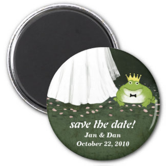 Sauvez le prince Wedding Customizable de Magnet Rond 8 Cm