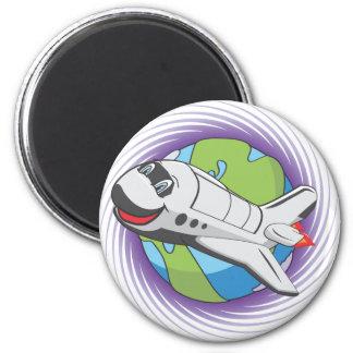 Sauvez le programme spatial magnet rond 8 cm