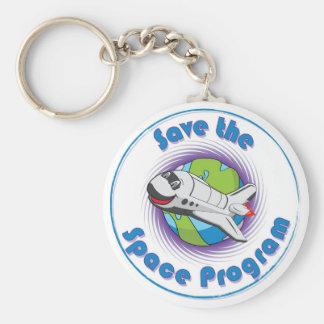 Sauvez le programme spatial porte-clé