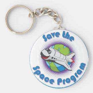 Sauvez le programme spatial porte-clef