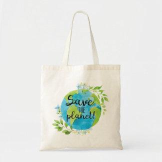 Sauvez le sac fourre-tout à planète