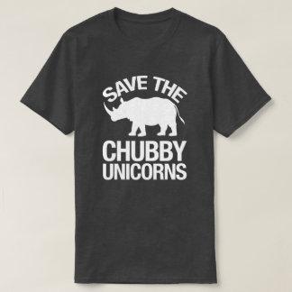 Sauvez le T-shirt drôle de licornes potelées