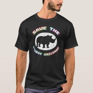 Sauvez le T-shirt potelé de licornes - pièce en t