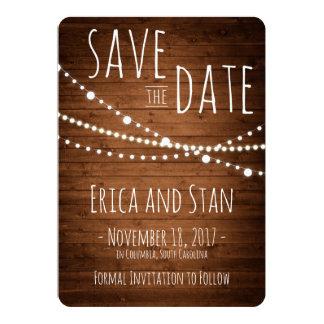 Sauvez le trio de lumières de carte de date, le carton d'invitation  12,7 cm x 17,78 cm