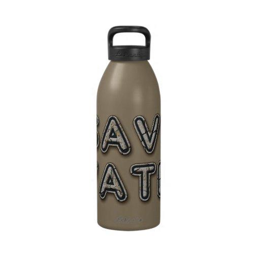 sauvez l'eau bouteille