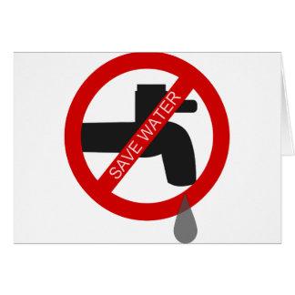 Sauvez l'eau carte de vœux