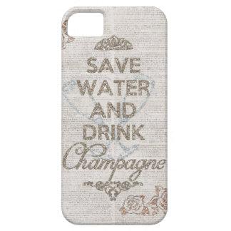 Sauvez l'eau et buvez la caisse minable de scintil étui iPhone 5