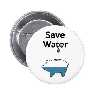 Sauvez l'eau pin's