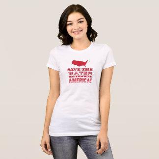 """""""Sauvez l'eau…"""" Type rouge T-shirt"""
