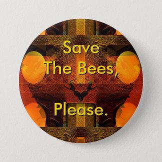 Sauvez les abeilles satisfont se boutonnent pin's