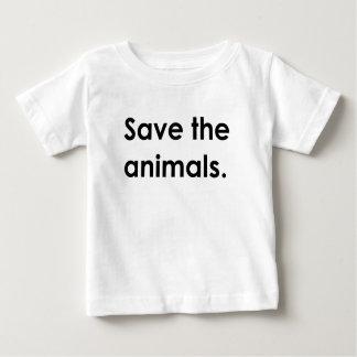 """""""Sauvez les animaux. """"chemise de bébé T-shirt Pour Bébé"""