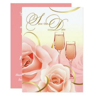 Sauvez les annonces de coutume de fête carton d'invitation  12,7 cm x 17,78 cm
