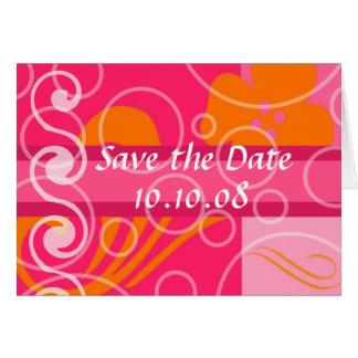 Sauvez les annonces de mariage de date carte de vœux