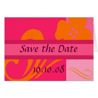 Sauvez les annonces de mariage de date - carte de vœux