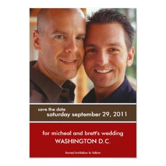 Sauvez les annonces de mariage de date {le bloc de carton d'invitation  12,7 cm x 17,78 cm