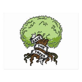 Sauvez les arbres cartes postales