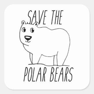 Sauvez les autocollants d'ours blancs