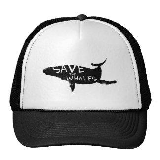 Sauvez les baleines casquette de camionneur