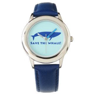 Sauvez les baleines ! montres bracelet