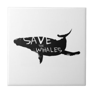 Sauvez les baleines petit carreau carré
