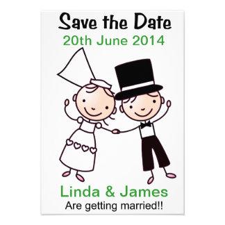 Sauvez les couples de bande dessinée de carte de d invitations