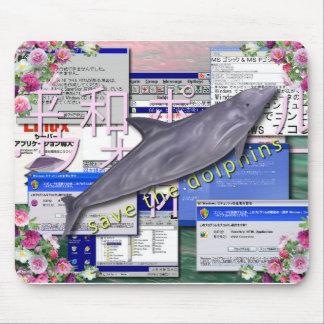Sauvez les dauphins Mousepad Tapis De Souris