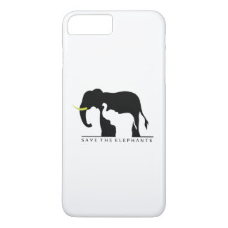 Sauvez les éléphants (blancs) coque iPhone 7 plus