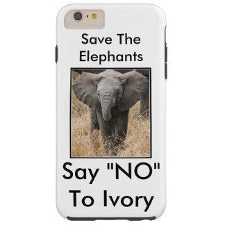 """Sauvez les éléphants disent """"NON"""" à l'ivoire Coque Tough iPhone 6 Plus"""