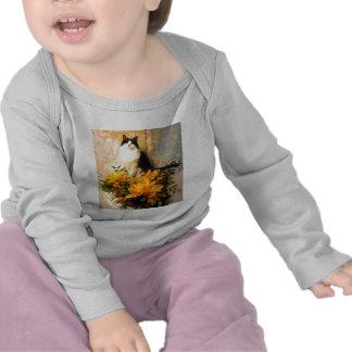 Sauvez les fleurs de date/mariage de automne t-shirt