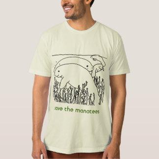 sauvez les hommes de lamantins t-shirts