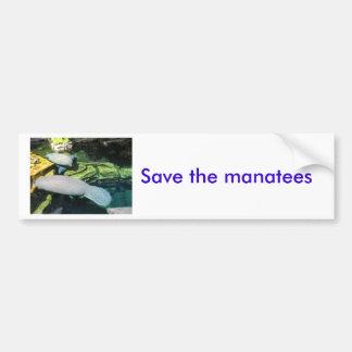 Sauvez les lamantins autocollant de voiture