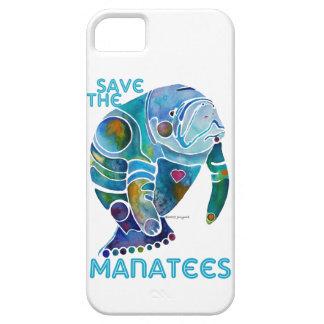 Sauvez les lamantins bleus étui iPhone 5