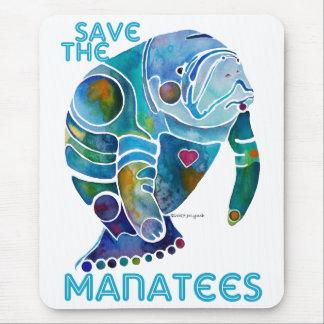 Sauvez les lamantins bleus tapis de souris