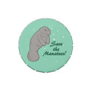 Sauvez les lamantins ! boite de bonbons jelly belly