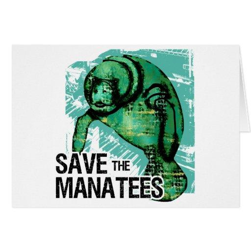 Sauvez les lamantins cartes de vœux