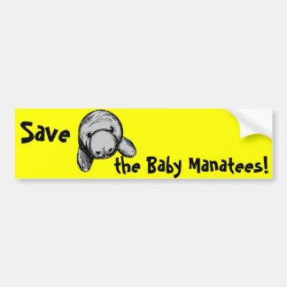 Sauvez les lamantins de bébé ! autocollant pour voiture