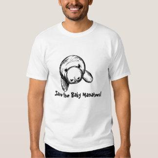 Sauvez les lamantins de bébé ! t-shirts
