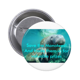 Sauvez les lamantins ! Et commercez-les dedans Badge Avec Épingle