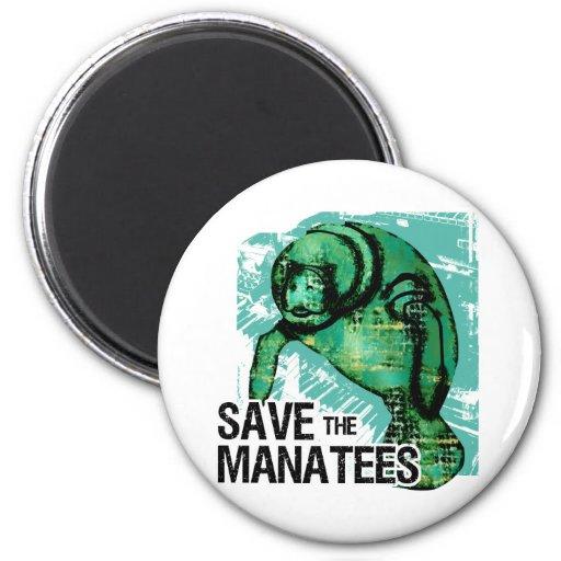 Sauvez les lamantins aimant pour réfrigérateur
