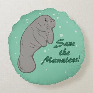 Sauvez les lamantins ! coussin rond