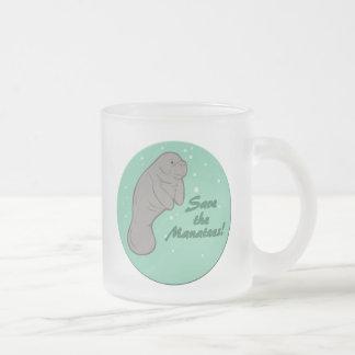 Sauvez les lamantins ! mug en verre givré