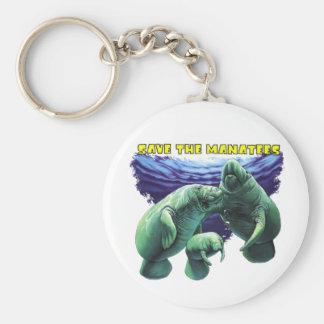 Sauvez les lamantins porte-clé rond