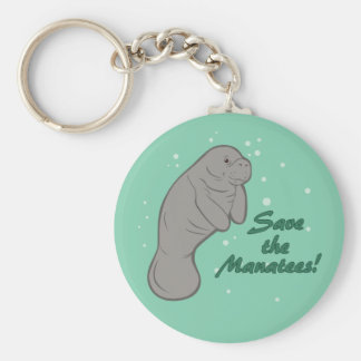 Sauvez les lamantins ! porte-clé rond