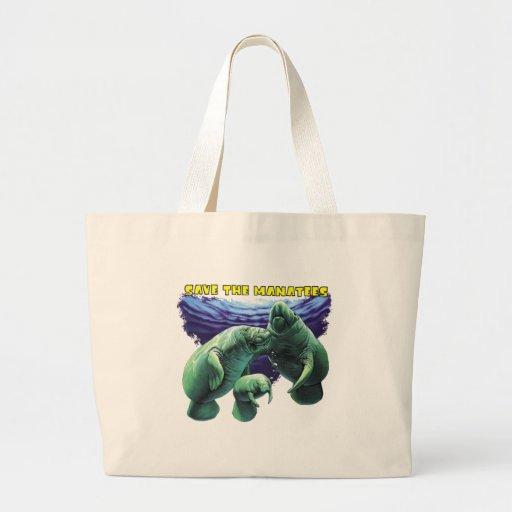 Sauvez les lamantins sacs de toile